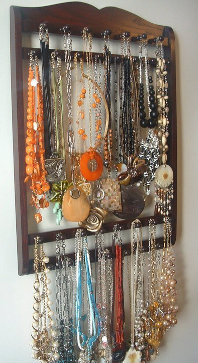Handcrafted wooden jewelry organizer