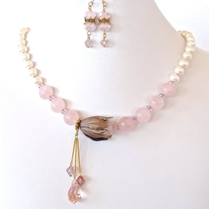 Pink_Flower_Necklace_Set