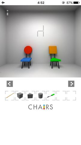Th  脱出ゲーム 椅子 攻略 3018