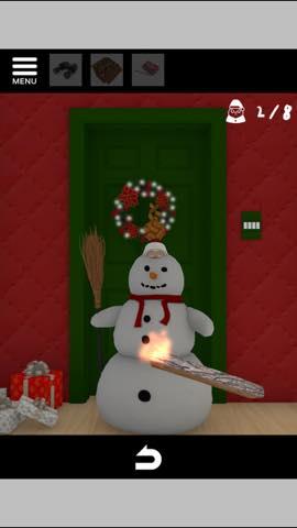 Th 脱出ゲーム Merry Xmas 暖炉とツリーと雪の家  攻略 3777