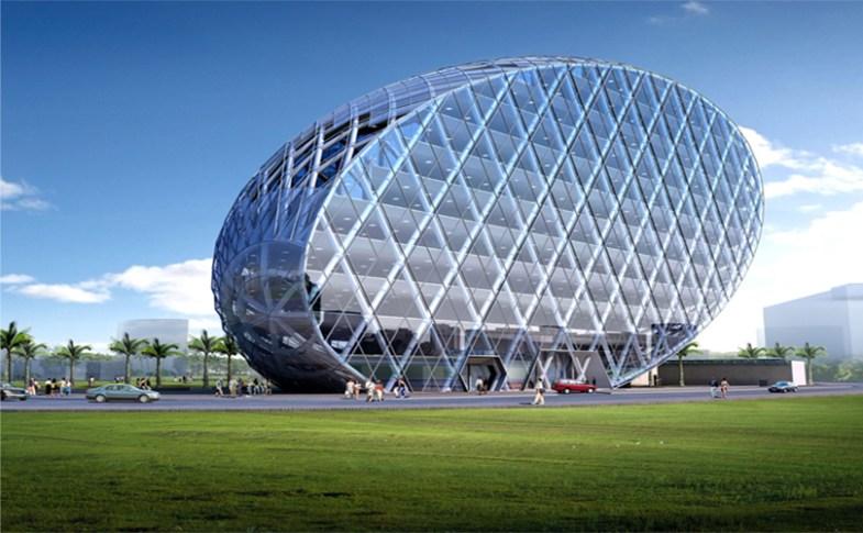 Cybertecture Egg Office Building, Mumbai