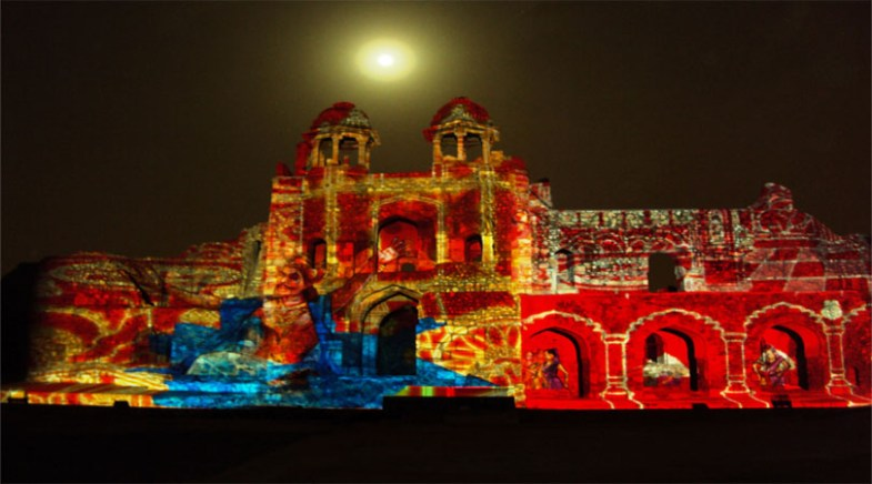 old fort delhi light and sound show