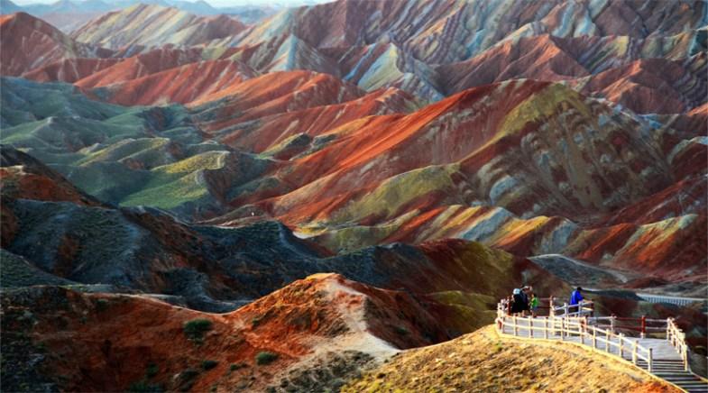 Zhangye Danxia Landform in Gansu China