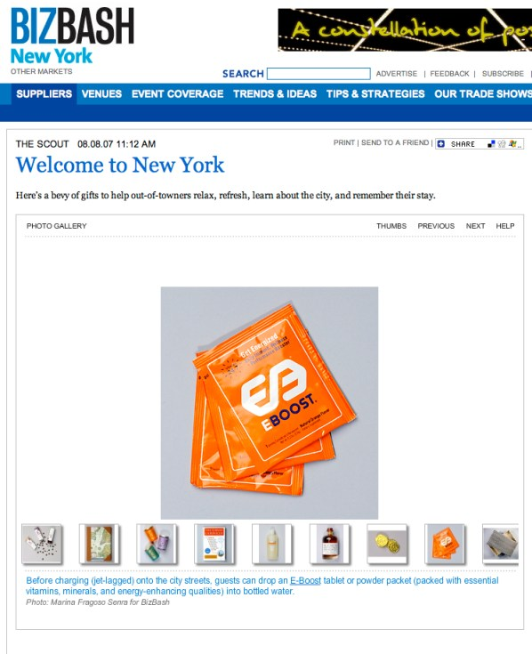 EBOOST on BizBash NY