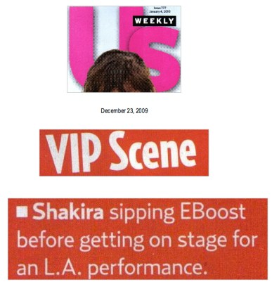 US Weekly EBOOST Shakira
