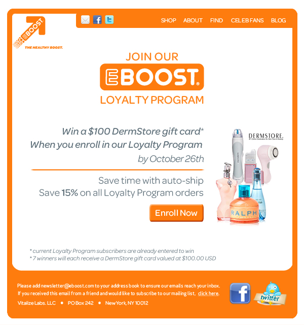 DermStore EBOOST healthy energy drink mix