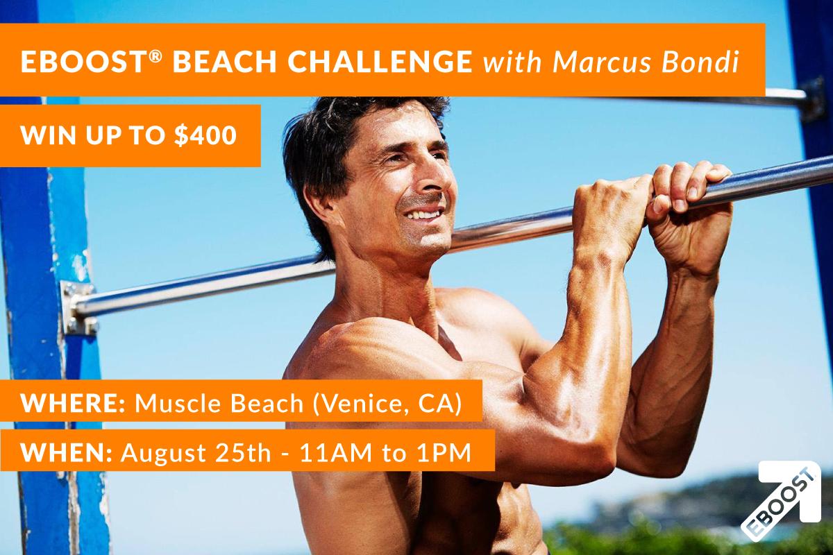 Marcus Bondi EBOOST Beach Challenge