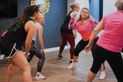 group fitness class at BellaVita