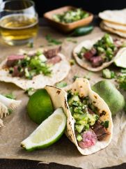 steak tacos with lime