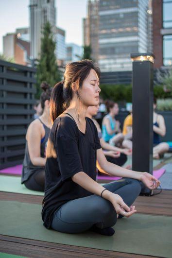 girl practicing meditation