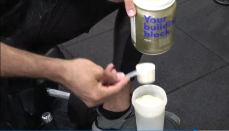 joe fauria drinking eboost prime whey protein