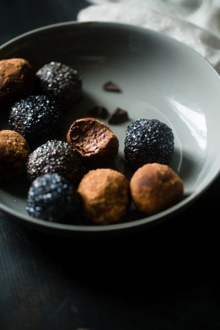 no bake chocolate truffle balls