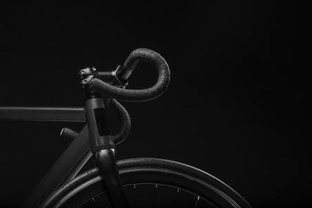 black and white road bike