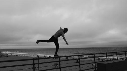 man balancing