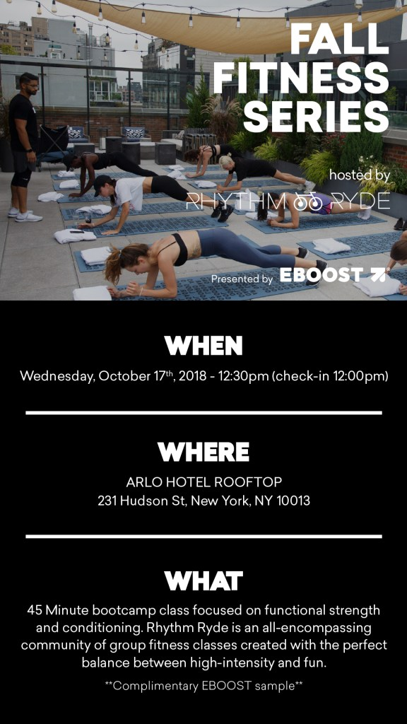 EBOOST FALL FITNESS EVENT WITH RHYTHM RIDE
