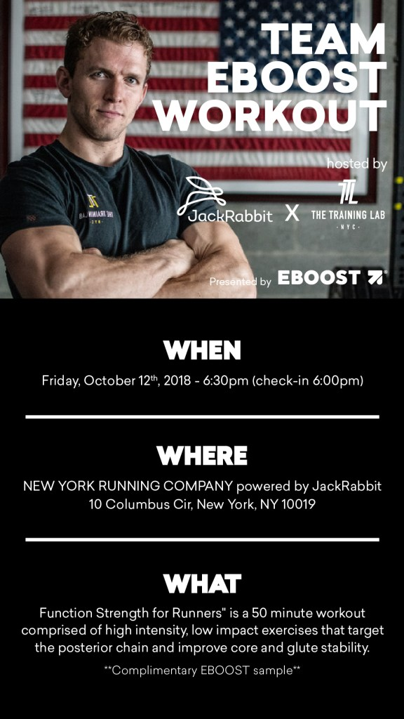 Team EBOOST Workout - Function Strength for Runners flyer