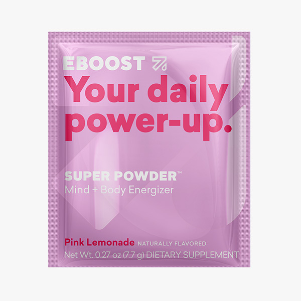 Single Serving Packet EBOOST SUPER POWDER Pink Lemonade