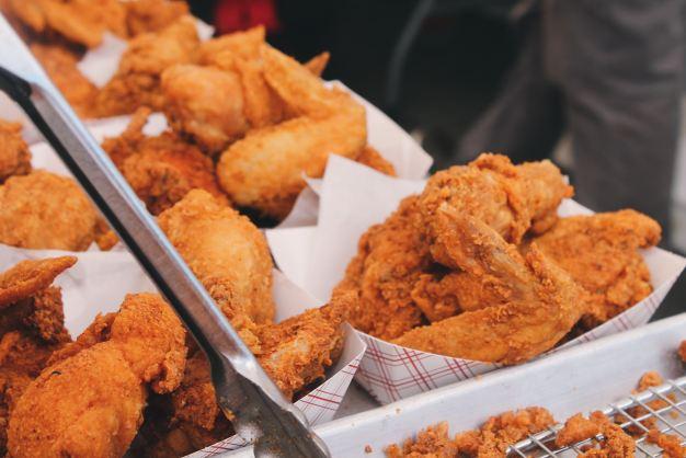 chicken nuggets in a basket