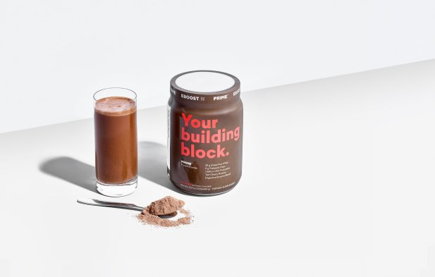 EBOOST PRIME grass-fed whey chocolate protein