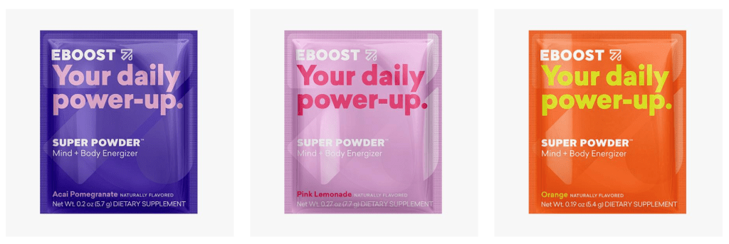 EBOOST SUPER POWDER packets