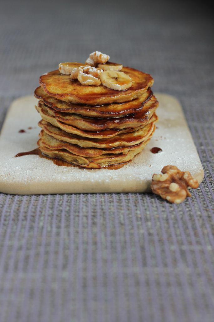 perfect protein pumpkin pancake stack