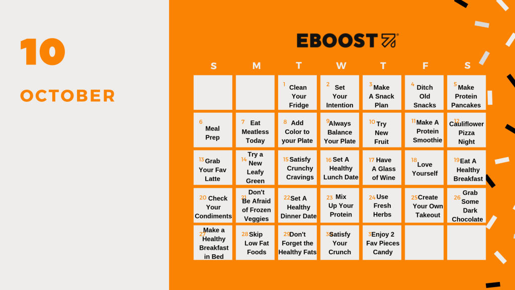 EBOOST Healthy Eating October Calendar