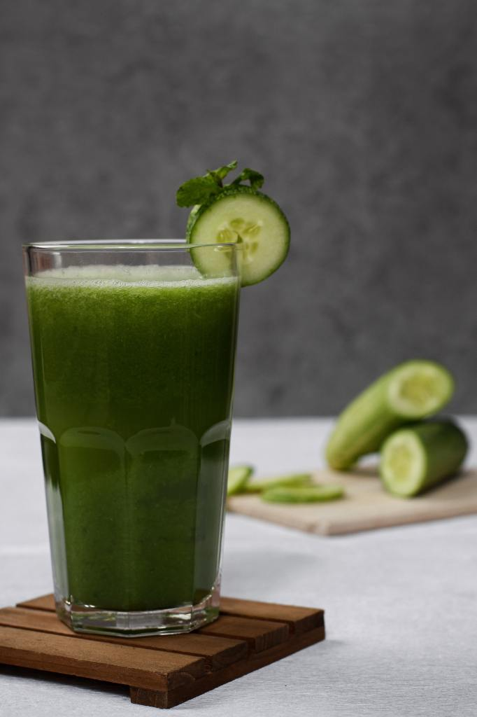 green smoothie with heat