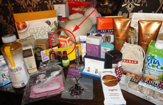 TIME People swag bag WHCD EBOOST healthy energy drink mix