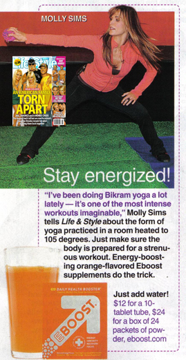 EBOOST and Molly Sims in Life & Style