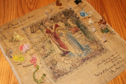 Nativity Ecclesiastical Embroidery Design byJohn D. Sedding 1874