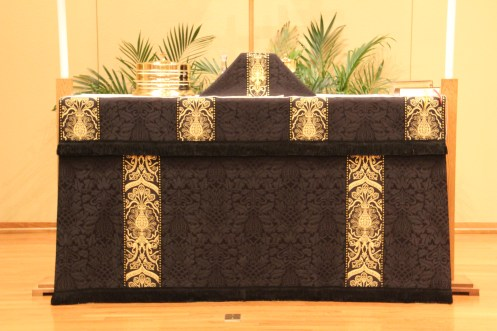 Ash Wednesday Altar Frontal and Chalice Veil Prince of Peace Evangelical Lutheran Church Baxter, MN