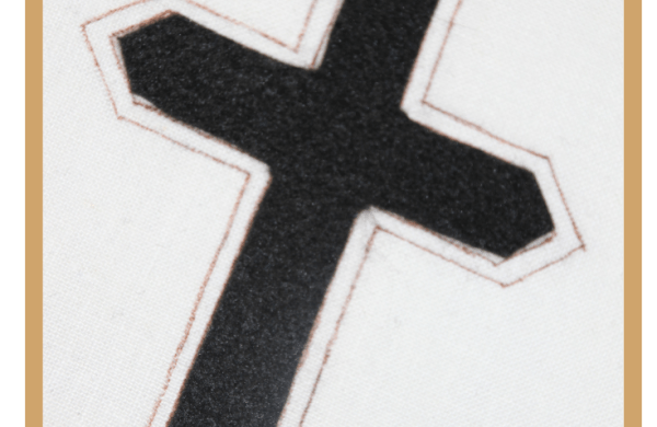 Lent Cross passion cross black cross hand embroidery cross Ecclesiastical Sewing Church cross Good Friday Lent