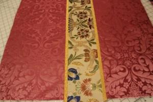 Rose Vestments with Gold oak Leaf Galloon Trim