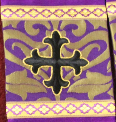 Lenten Stole Orphrey in Violet Gold Fairford