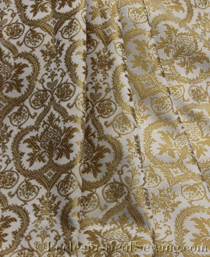 Liturgical Fabric Evesham White Gold