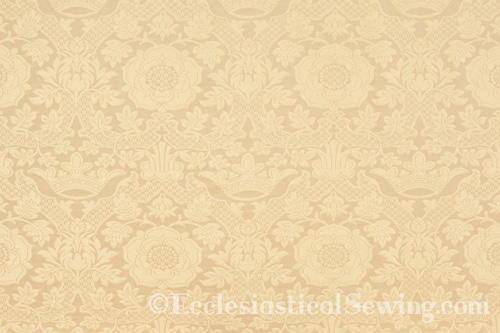 St. Margaret Ivory Lurex Liturgical Fabric