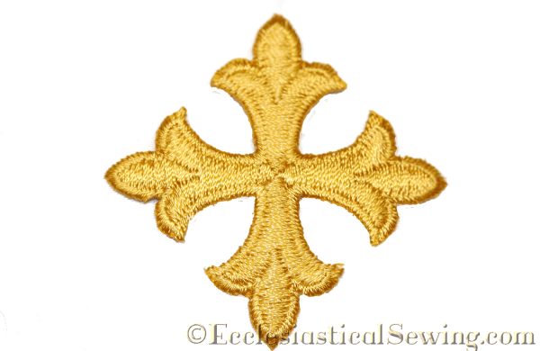 Iron on cross applique for pastoral stoles