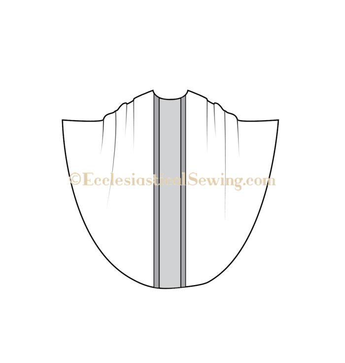 Chasuble church vestment pattern, MOnastic chasuble pattern, priest chasuble pattern, traditional vestment patterns