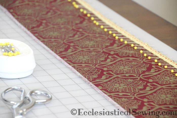 Liturgical Fabric Religious Fabric Church vestment fabric Ophrey bands chasuble bands Narrow trim for church vestments Ecclesiastical Sewing