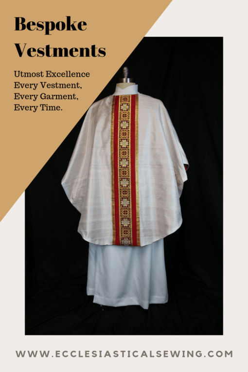 Bespoke custom vestments clergy garments custom ordered vestments Ecclesiastical Sewing