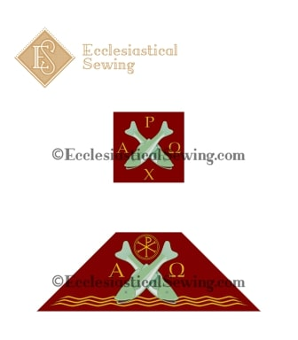 St. Andrew Burse and Chalice Veil Ecclesiastical Sewing Veil