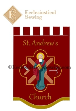 St. Andrew's Church Banner Ecclesiastical Sewing