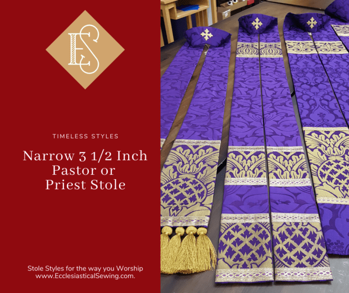 Violet Stoles in the St. Ambrose Collection for Lent