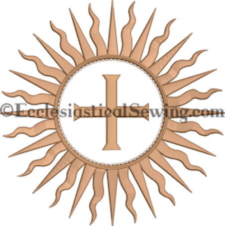Starburst Embroidery Design Ecclesiastical Sewing