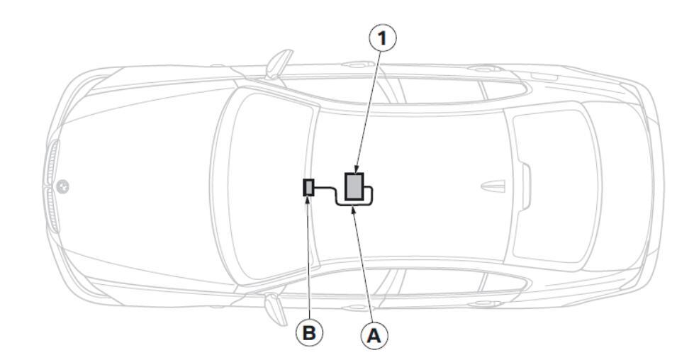 BMW Electrochromatic Interior Mirror with Compass /Garage