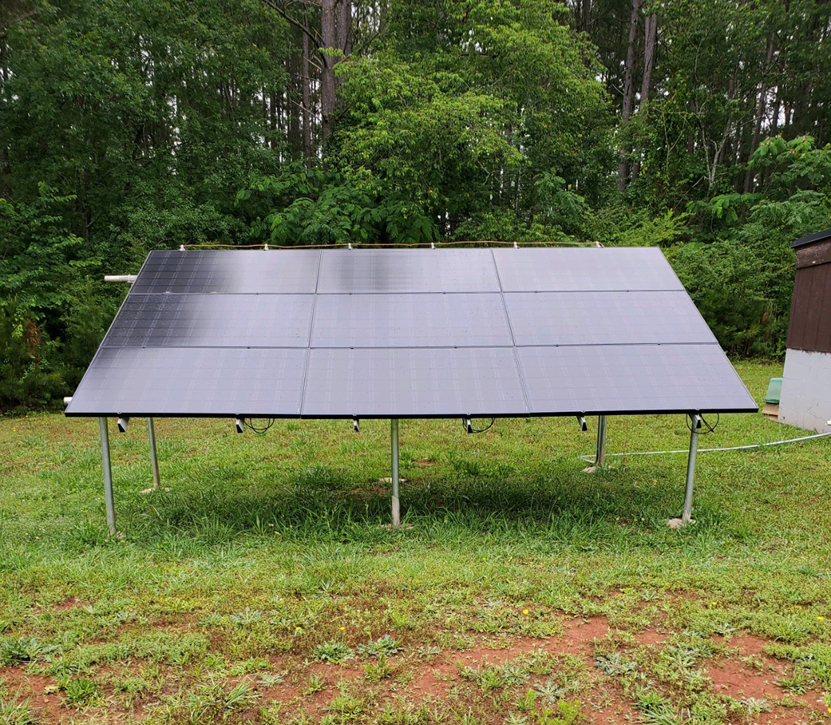 Solar In Action: Dennis in Georgia - 3kW LG and Enphase Ground Mount