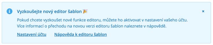 Nový editor šablon Ecomail.cz