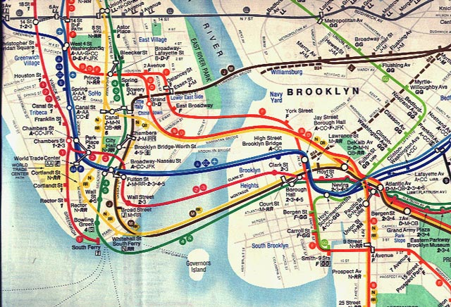 York Transit City New Map Jersey New
