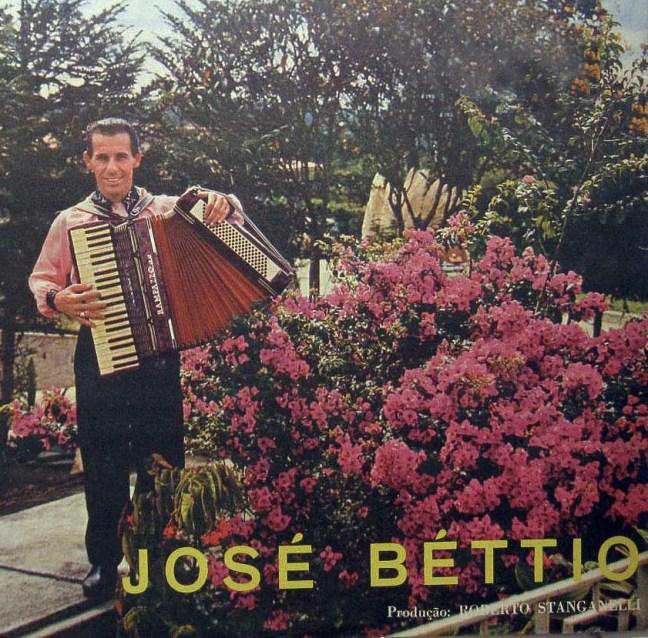 Capa de um dos LPs lançados por José Béttio - 1972.