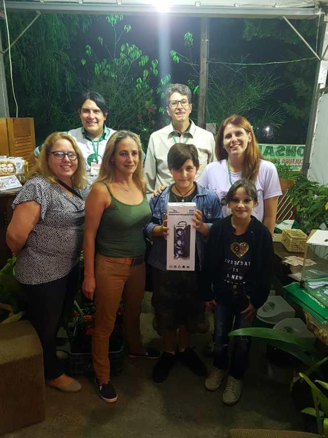 Sorteio de prêmio do stand da Cerejeira Sustentável